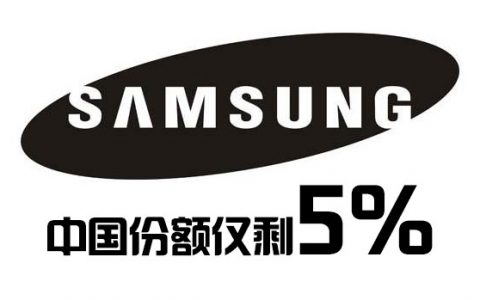 三星智能手机中国市场份额仅剩5%